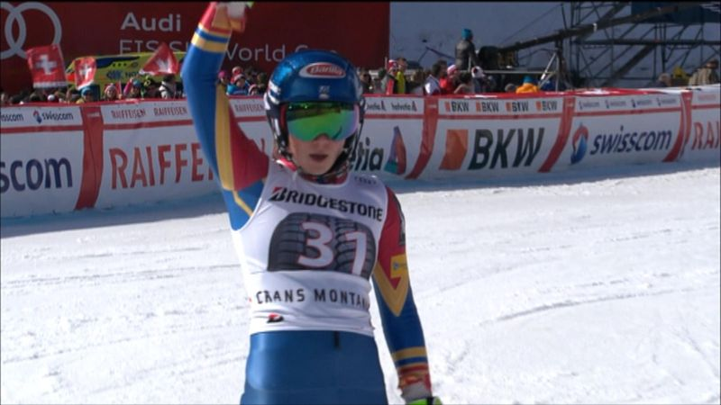 Mikaela Shiffrin gana la combinada en Crans-Montana