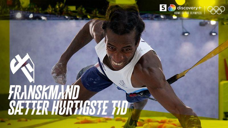 Franskmand sætter hurtigste tid i speed climbing – se det her