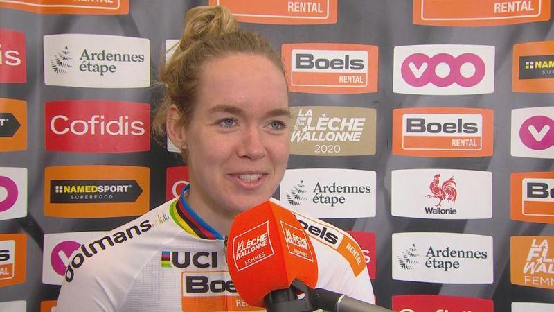 Waalse Pijl | Anna van der Breggen na overwinning