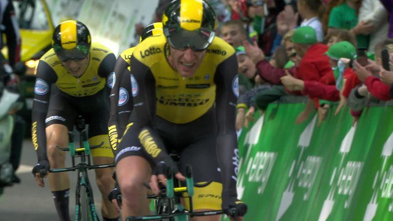 La LottoNL-Jumbo s'offre le chrono... et Roglic le maillot de leader