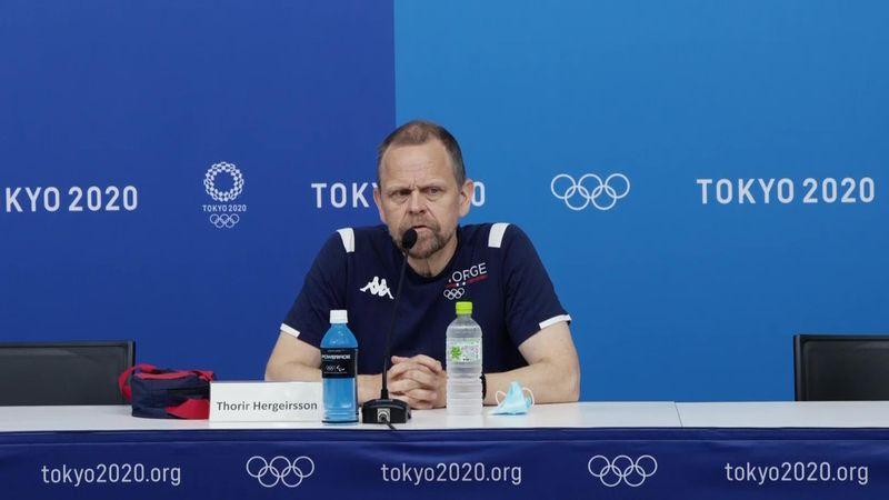 Se hele pressekonferansen med Hergeirsson etter OL-smellen