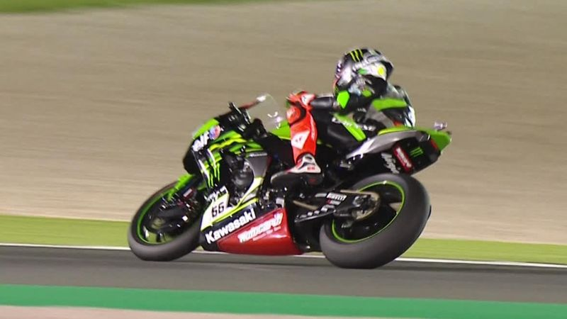 Watch the action-packed finish to Race 1 in Qatar