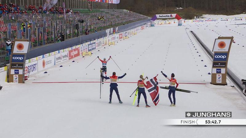 Серебро России и суперэмоциональный финиш шведок в эстафете