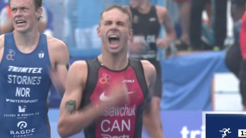 Triatlón, preolímpico Tokio 2022: El canadiense Tyler Mislawchuk se lleva la victoria
