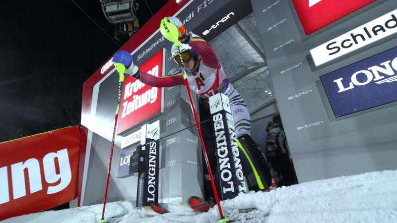 Schladming: Men's Slalom : Run 2 - Strasser
