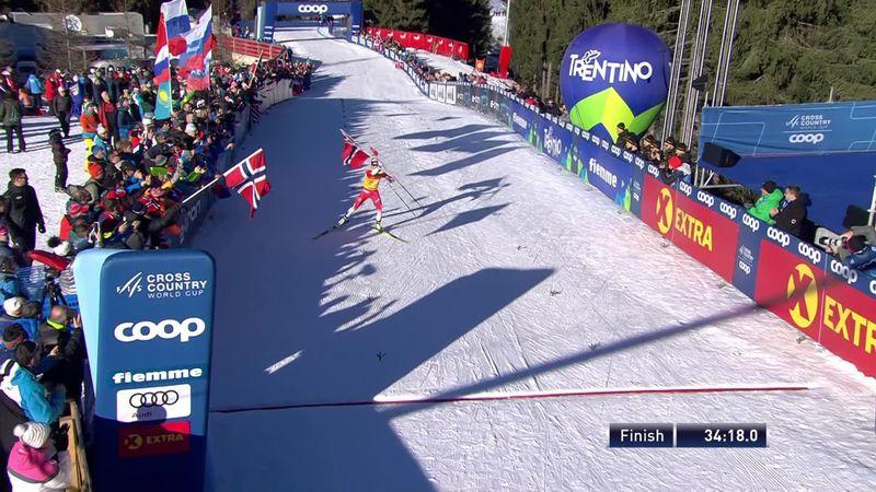 Tour de Ski | Johaug wint laatste onderdeel en daarmee Tour de Ski