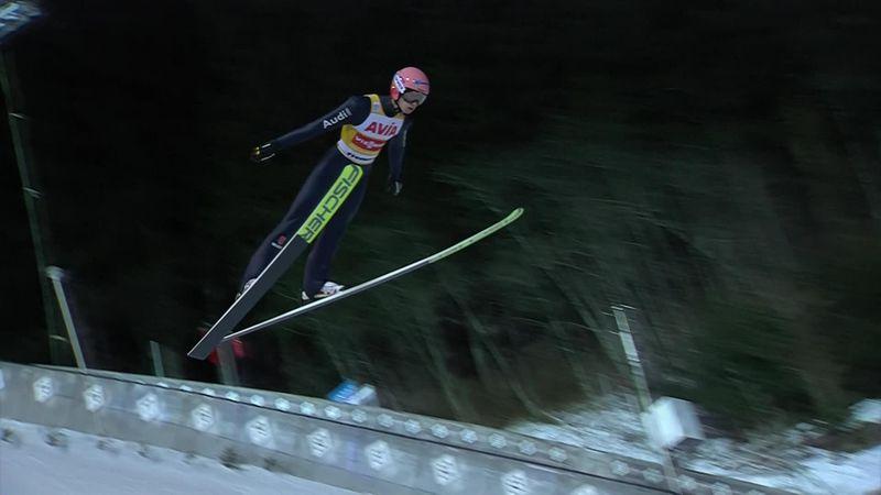 Karl Geiger firma il bis in Val di Fiemme davanti a Kraft e Kubacki