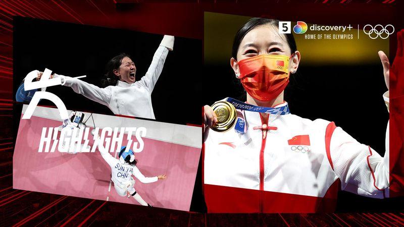 Kinesiske Sun Yiwen vinder guld i fægtning