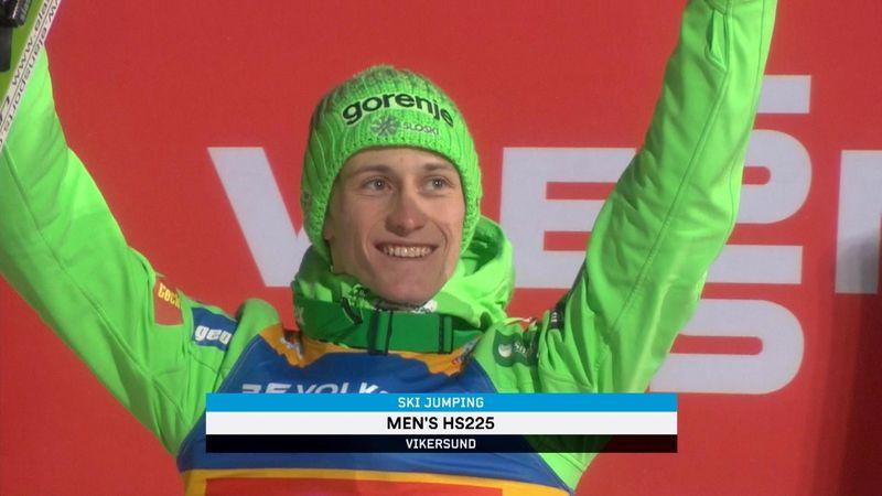 Peter Prevc wins again in Vikersund