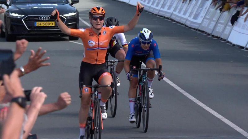 Pieters wins European Road Championship title to delight Dutch fans