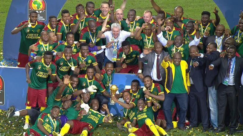 Copa África 2017: La celebración de los jugadores de Camerún tras ser campeones