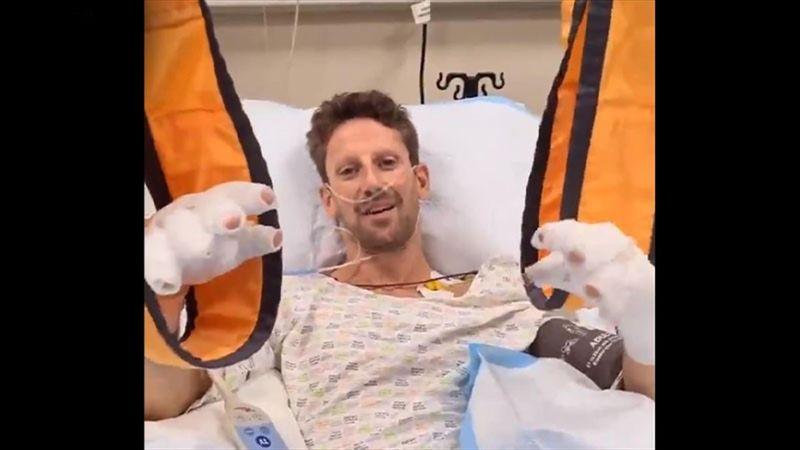 Grosjean sendet Videobotschaft - und bedankt sich bei Halo