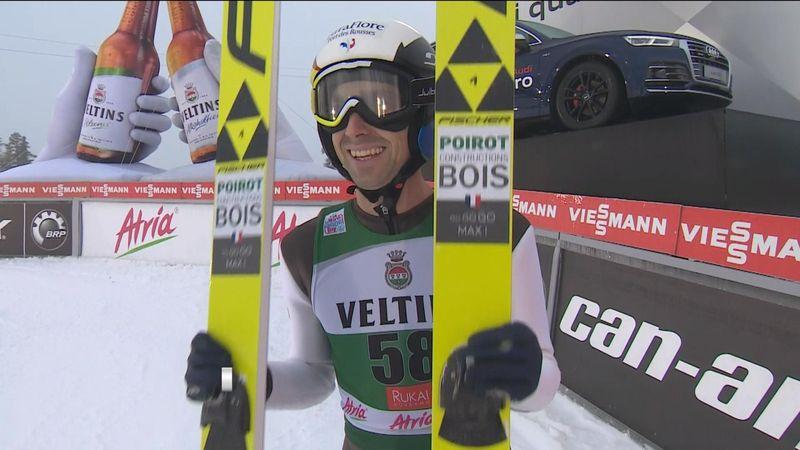 Nordic Combined - Ruka: Maxime Laheurte's jump