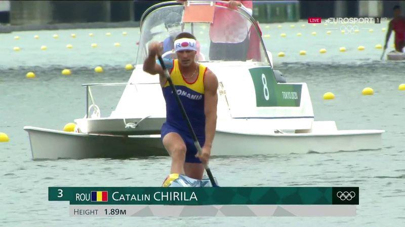 Jocurile Olimpice: Cursa lui Cătălin Chirilă din finala B a probei de 1.000 de metri simplu