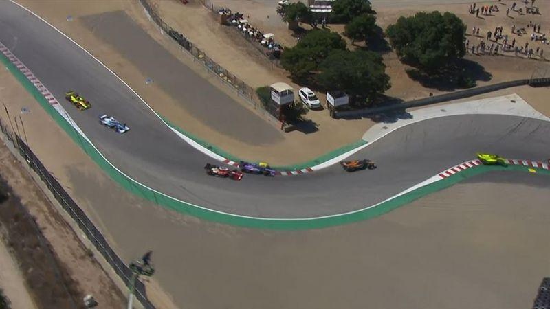 Dépassement osé, contact sans conséquence : Grosjean monte sur le podium à Laguna Seca