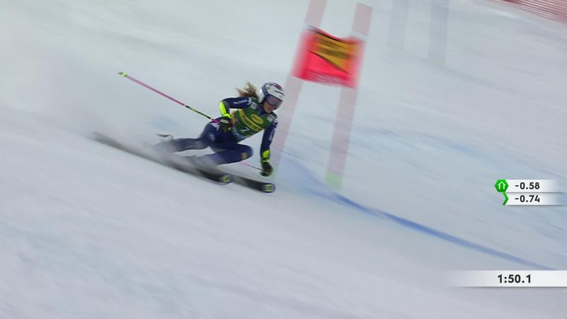 Slalomul uriaş de la Soelden: Top 3, runda a doua