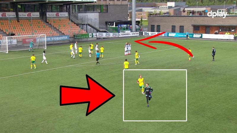Norsk super-keeper gør det igen: Brager genialt frispark ind til 2-2