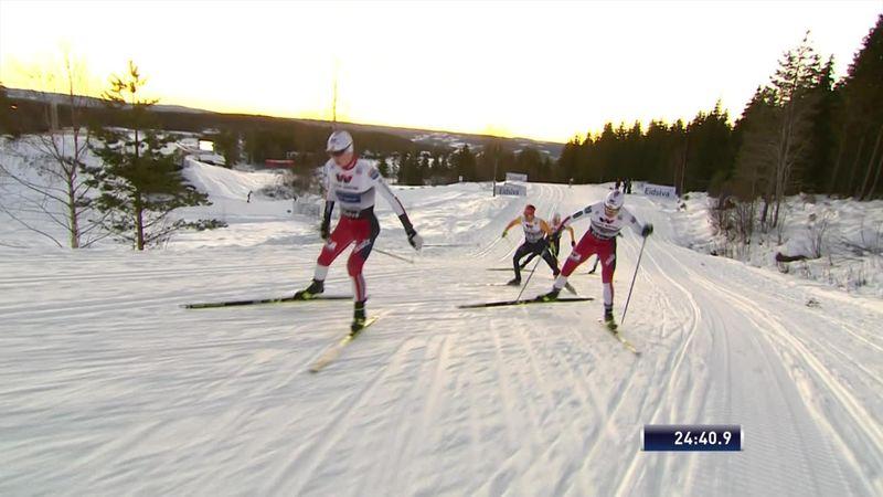 WB Noordse Combinatie | Riiber wint na het schansspringen ook de 10km