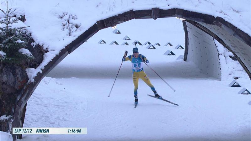 Samuelsson leads Sweden home to men's relay win in Hochfilzen