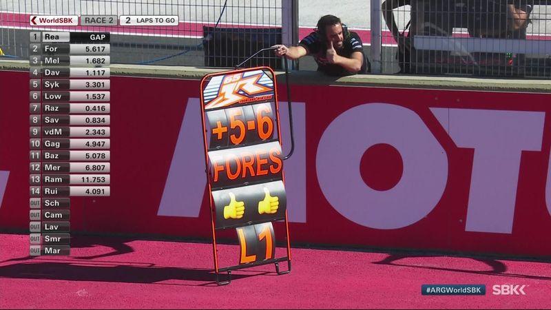 Jonathan Rea drops wheelies on final lap