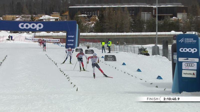 Krueger si prende la 50 km finale, podio Holund e Burman