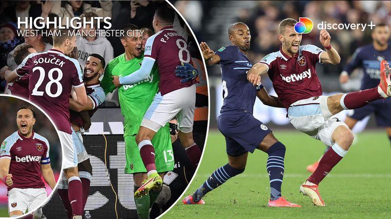 Highlights: West Ham nedlagde Carabao Cup-kæmperne fra City efter vild straffekonkurrence