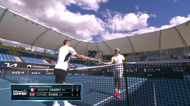 Highlights: Evans powers past Chardy to reach Murray River Open final