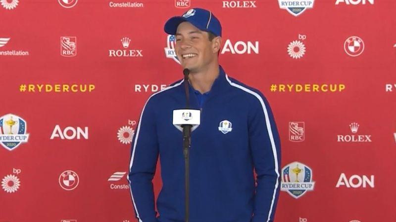 Se Hovlands pressekonferanse før Ryder Cup