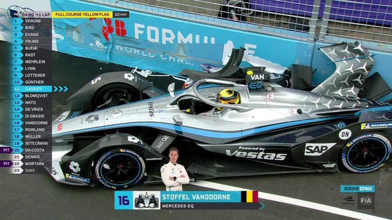 Gros crash de Vandoorne à Rome, le E-Prix neutralisé jusqu'à l'arrivée