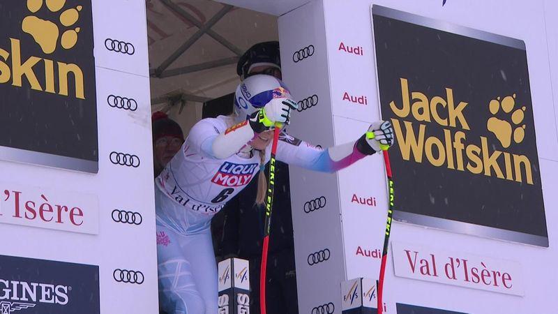 Lindsey Vonn gana el Supergigante de Val d'Isère solo una semana después de su lesión