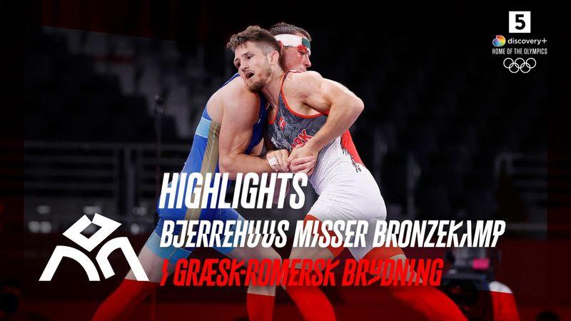 Highlights: Bjerrehuus fik ikke et ben til jorden mod russiske Surkov og misser brydning-bronze