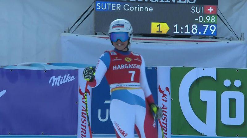 Alpineskien | Corinne Suter wint afdaling Altenmarkt-Zauchensee