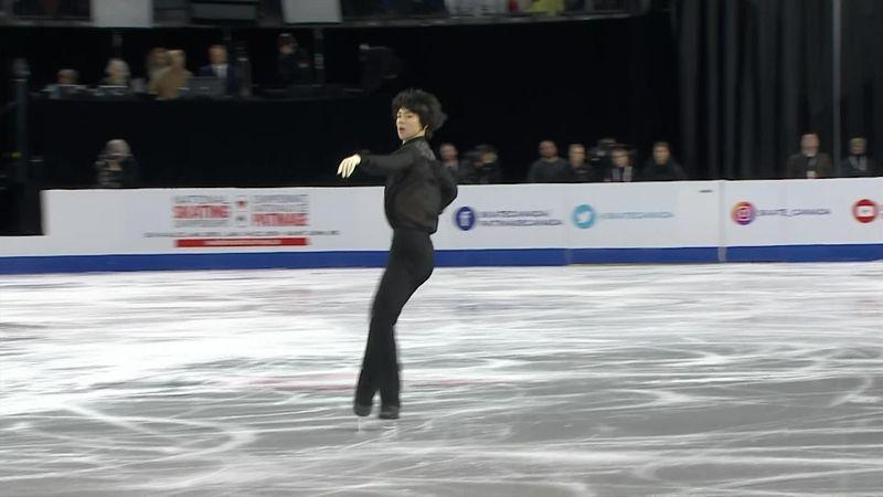Skate Canada: Supertalent Junhwan Cha (17) trekt aandacht met sterk optreden