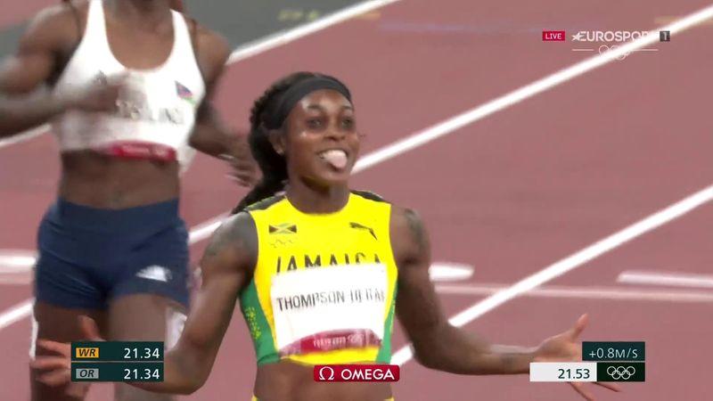 Après le 100m, le 200m : le sacre de Thompson-Herah en vidéo