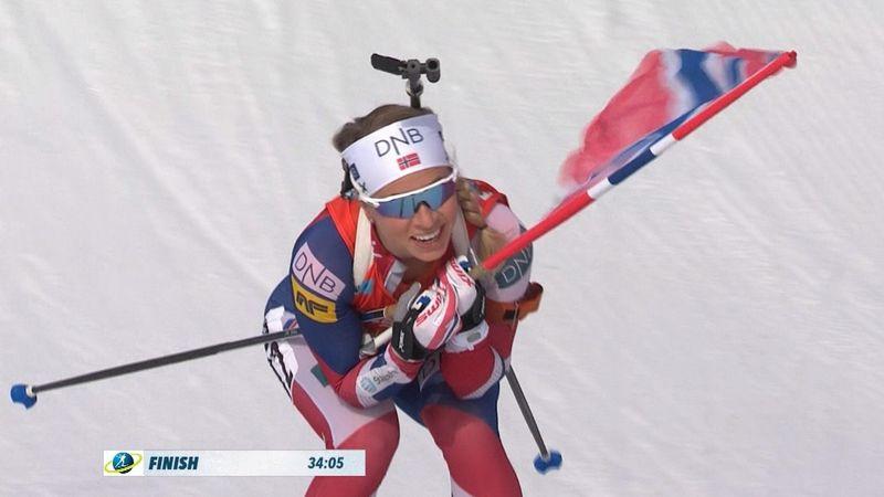 Biathlon: La noruega Tiril Eckhoff gana en Oslo