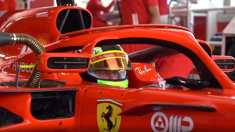 Mick Schumacher im Ferrari: Tolle Bilder vom Test im F1-Boliden