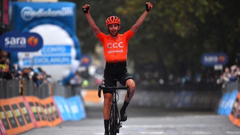 Финиш 19-го этапа «Джиро», на котором победил чех Черны