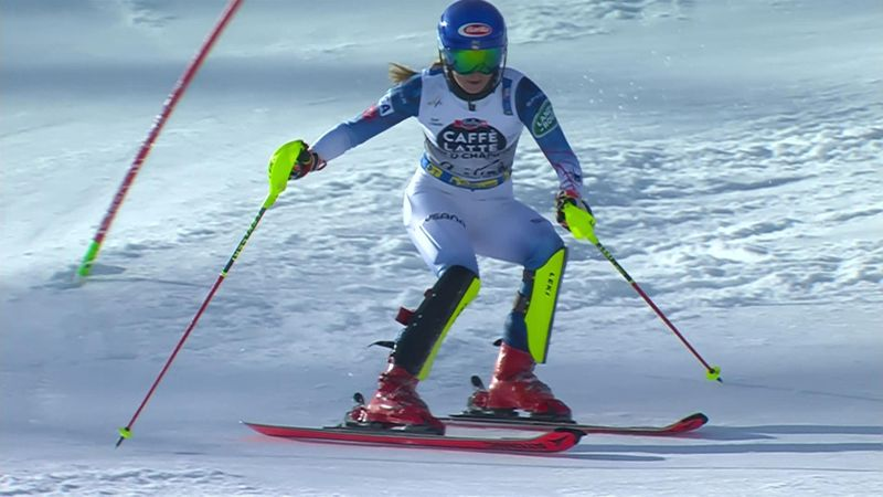 'Is that enough?' – Shiffrin goes into the lead, eventually finishes third in slalom