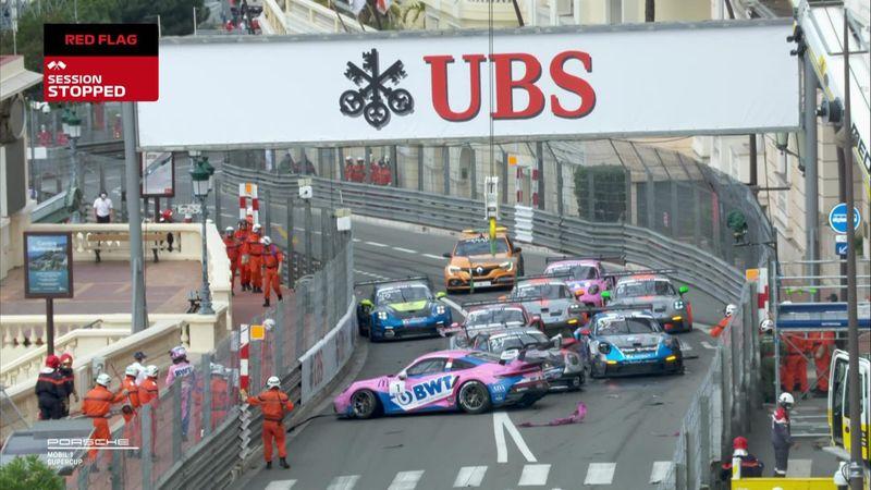 ¡Vaya forma de empezar! Tremendo tapón en la Porsche Supercup