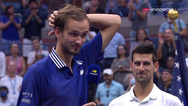 """Medvedev à Djokovic : """"Désolé Novak, pour moi, c'est toi le plus grand"""""""
