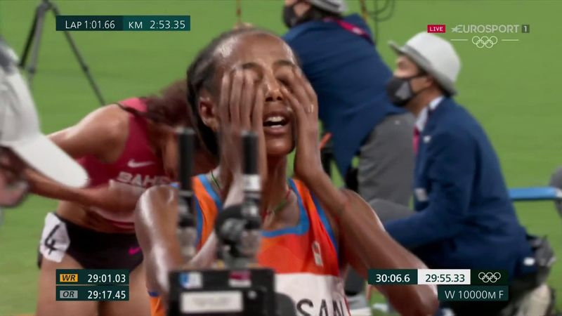 'Lights out!' - Hassan a double Olympic champion with 10,000m glory