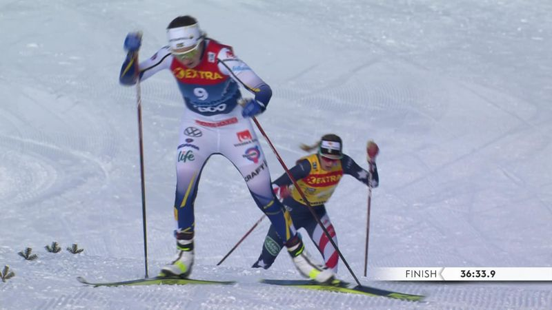 Stage win for Andersson, but Diggins claims Tour de Ski