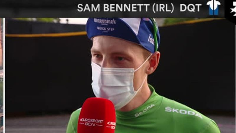 Sam Bennett - 'Coming into the Champs Elysees wearing green... I got goosebumps'