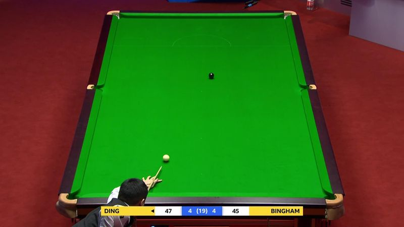Ding ends session with wild fluke on black against Bingham