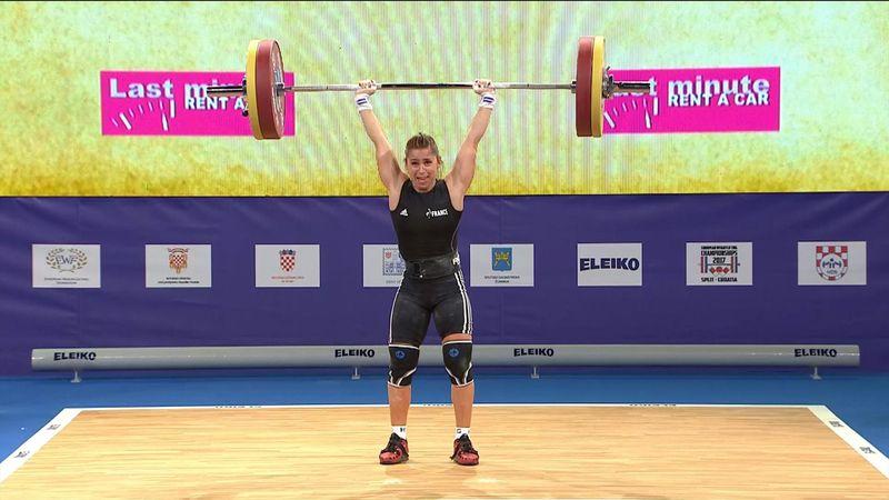 Anais Michel wins European weightlifting gold