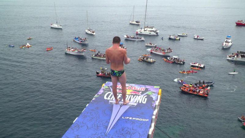 Cliff Diving: Steven LoBue winning dive