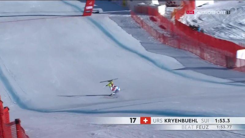 Urs Kryenbuehl, brutta caduta a 140 km/h sulla Streif
