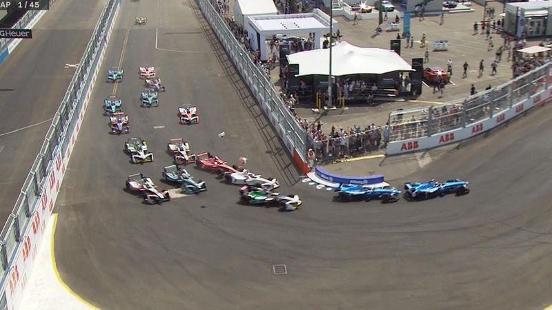 Fórmula E, Nueva York: Así fue la accidentada salida de la última cita del año