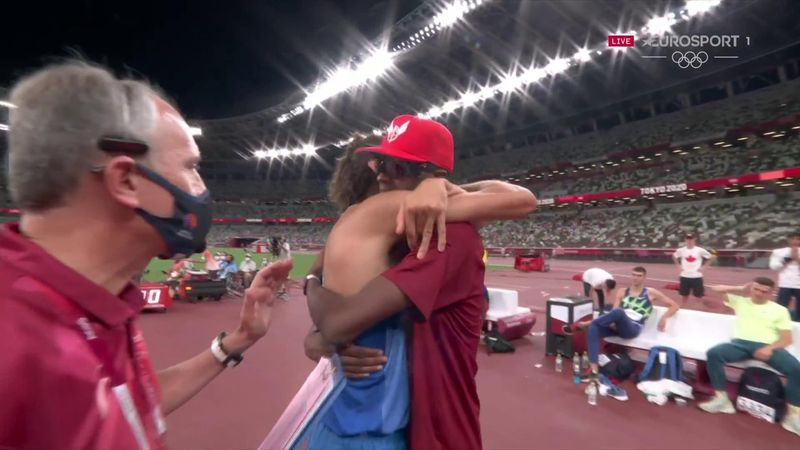 'Let's have one each!' - Amazing moment Barshim and Tamberi decide to share high jump gold