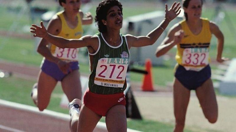 Nawal El Moutawakel y la carrera que le dio el oro olímpico